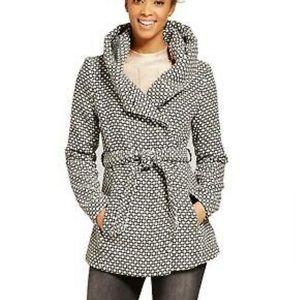 Xhilaration hooded wool coat size L